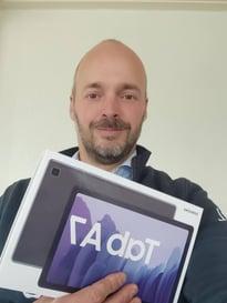 Arjan Oostdijck winnaar tablet